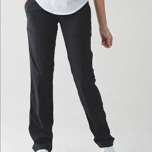 Lululemon dance studio pants unlined size 8 black
